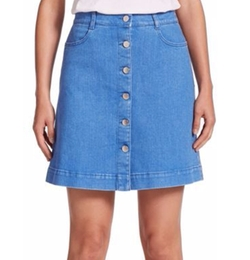 Stella McCartney - Button-Front A-Line Denim Skirt