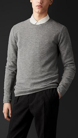 Burberry - Engineered Cashmere Sweater