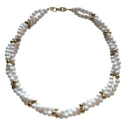Chairish - Napier White & Gold Bead Necklace