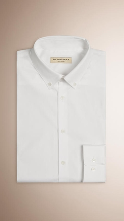 Burberry - Slim Fit Cotton Shirt