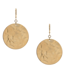 Kenneth Cole New York - Hammered Circle Drop Earrings