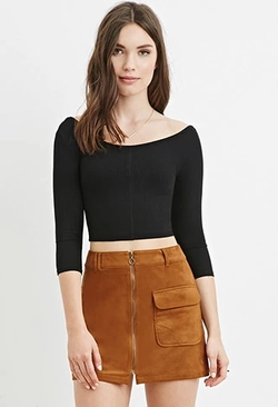 Forever 21 - Ribbed Knit Crop Top