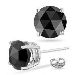 Vogati - Black Diamond Mens Stud Earring