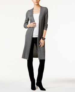 Inc International Concepts - Ribbed Duster Cardigan