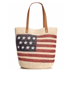 Style & Co.  - Flag Straw Beach Bag