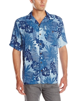 Caribbean Joe - Mosaic Printed Camp Shirt