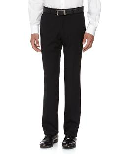 Neiman Marcus  - Skinny Wool Dress Pants, Black