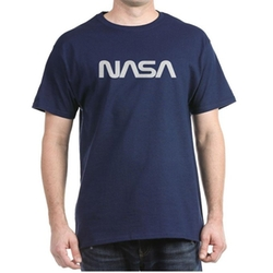 Cafepress - NASA Worm Logo Dark T-Shirt