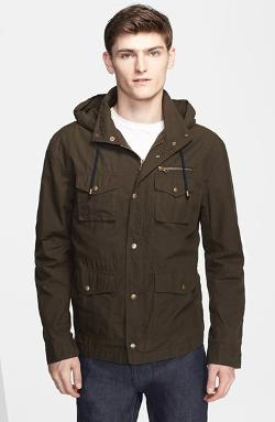 Michael Bastian - Microcheck Hooded Field Jacket