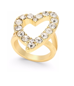 Thalia Sodi - Crystal Open Heart Ring