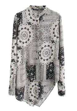 Fashiondiary - Button-Down Collar Blouse