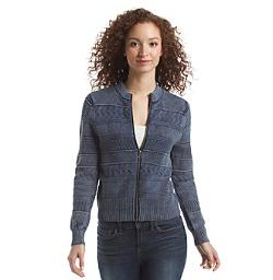 Ruff Hewn  - Acid Wash Textured Stitch Cardigan