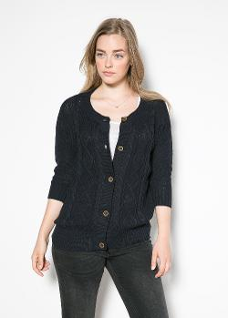 Mango - Cable-Knit Cotton Cardigan