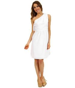 Vince Camuto  - Pleated One-Shoulder Dress