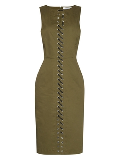 Altuzarra - Jay Lace-Up Crepe Dress