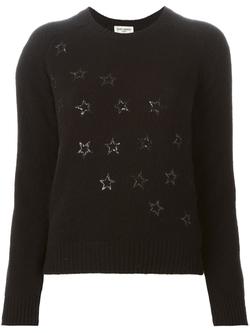 Saint Laurent  - Sequined Star Sweater