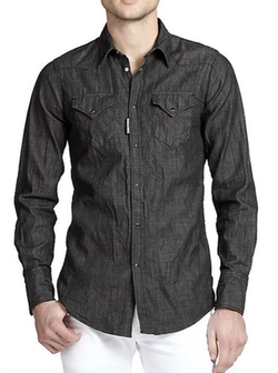 DSQUARED2  - Chambray Button-Front Shirt