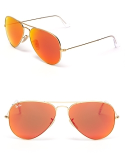 Ray-Ban  - Mirror Aviator Sunglasses