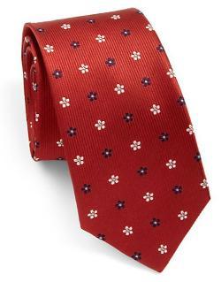 Eton of Sweden  - Floral Print Silk Tie