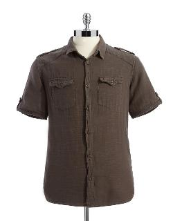 Rogue State  - Short Sleeved Button Down Shirt