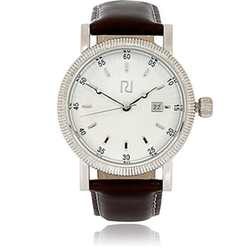 River Island - Dark Brown Textured Bezel Watch