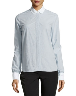 Stella McCartney - Long-Sleeved Poplin Blouse