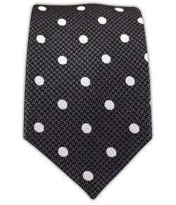 The Tie Bar  - Woven Silk Calypso Dots Tie