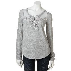 SO - Mesh Crochet Henley - Juniors