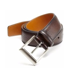 Saks Fifth Avenue by Magnanni  - Pebbled Leather Belt