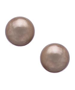 Max & Chloe - Gold Pearl Stud Earrings