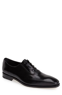 Salvatore Ferragamo - Perforated Leather Oxford Shoes