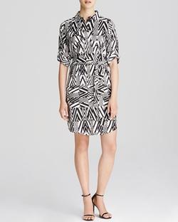 Calvin Klein  - Printed Shirt Dress