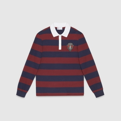 Gucci - Striped Long Sleeve Polo Shirt