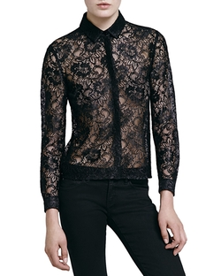 The Kooples - Laminated Lace Shirt