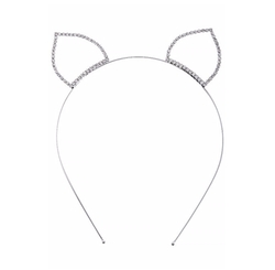The Jewel Rack - Crystal Lined Cat Ear Headband