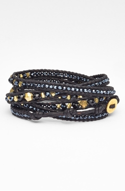 Chan Luu - Beaded Leather Wrap Bracelet
