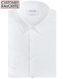 Calvin Klein  - Steel Non-Iron Slim-Fit Solid Performance Dress Shirt
