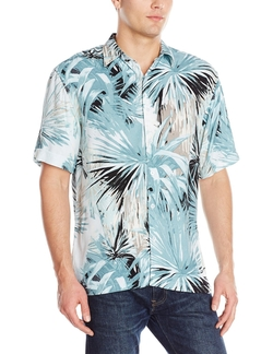 Cubavera - All Over Foliage Print Woven Shirt