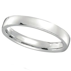 Allurez  - Low Dome Wedding Ring