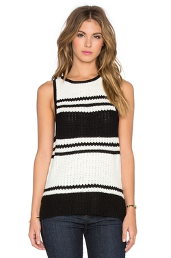 Bishop + Young - Stripe Tank Sweater Top