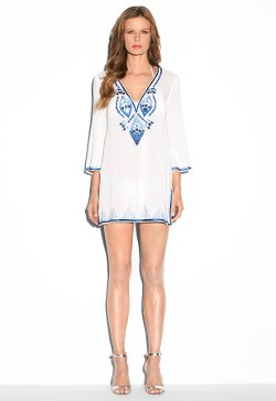 Milly - Embellished V-neck Tunic