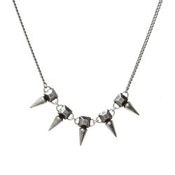 Jill Golden  - Silver Pyramid Spike Necklace
