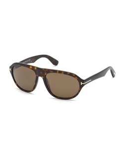 Tom Ford  - Ivan Shiny Havana Acetate Sunglasses