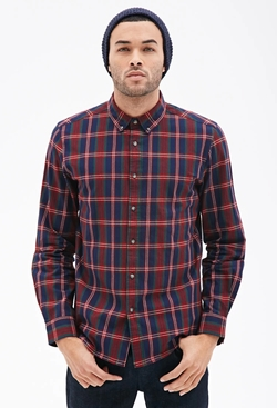 Forever21 - Tartan Plaid Collared Shirt