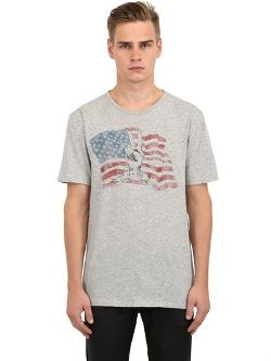 John Varvatos Peace Rocks  - Peace Flag Cotton T-shirt