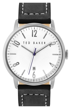 Ted Baker London - Round Leather Strap Watch