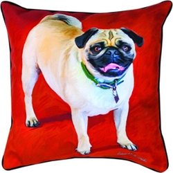 MWW - Doug The Pug Throw Pillow