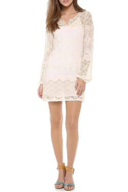 Cynthia Vincent - Lace Bell Shirt Dress