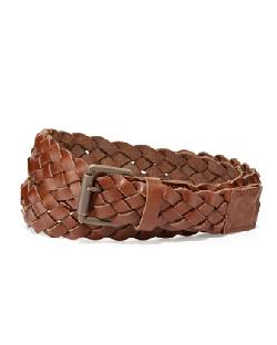 Ami - Braided Leather Belt, Brown