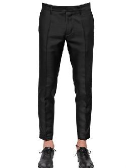 DSQUARED  - WOOL BLEND CANVAS TROUSERS